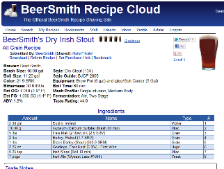 Getting the Most from the BeerSmith Recipes Cloud