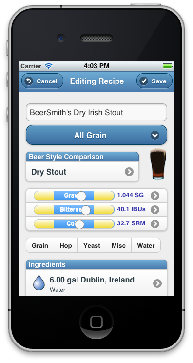 BeerSmith Mobile Now Available for iPhone/iPad (and Android/Kindle